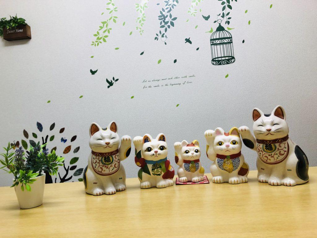 浅草で購入した招き猫集合!